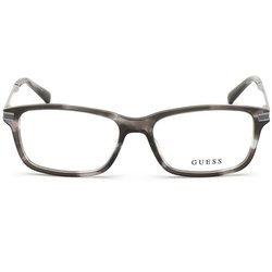 Guess prostokątne okulary z tworzywa kolor szary transparent GU 1986 020