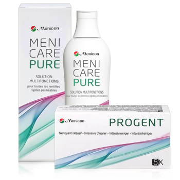 Zestaw MeniCare Pure 250ml + Menicon Progent 5 dawek