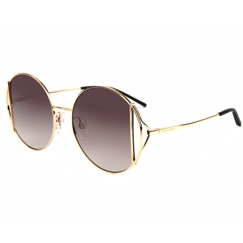 Ana Hickmann okulary przeciwsłoneczne okrągłe, w złotej ramce oversized