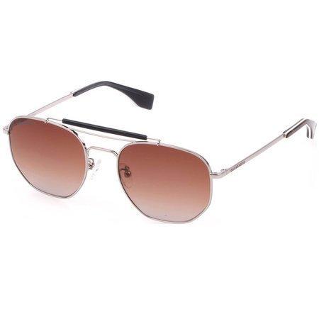 Converse okulary przeciwsłoneczne męskie pilotki ze srebrną ramką i brązowymi soczewkami