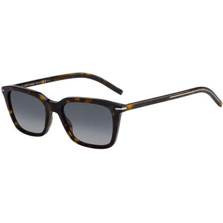 Dior męskie stylowe okulary przeciwsłoneczne w kolorze szylkretowym z szarymi soczewkami