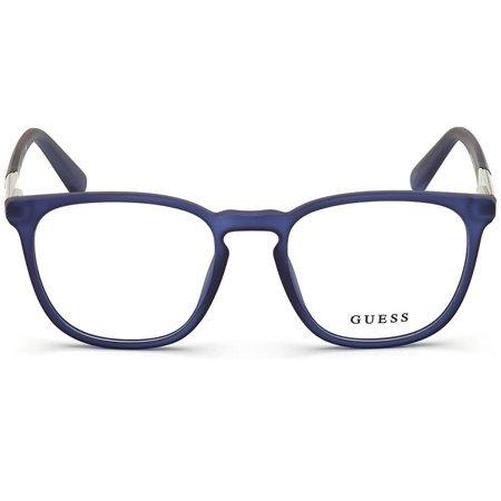 Guess granatowe owalne okulary z tworzywa męskie GU 1980 091