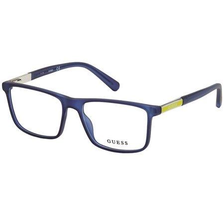 Guess kwadratowe okulary męskie w kolorze niebieski mat GU 1982 091