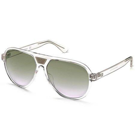 Guess okulary przeciwsłoneczne pilotki z przezroczystego tworzywa