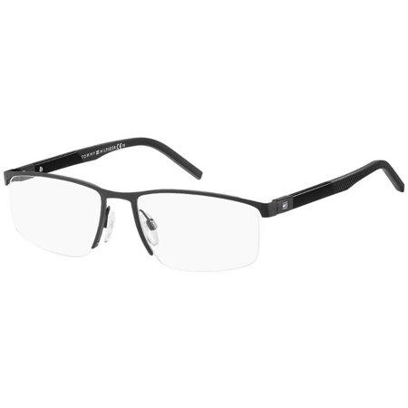Tommy Hilfiger czarne męskie okulary żyłkowe TH 1640 003