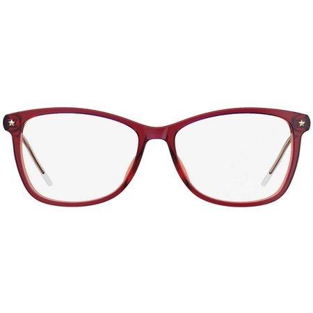 Tommy Hilfiger damskie okulary w kolorze czerwonym-fuksja TH 1633 OYA