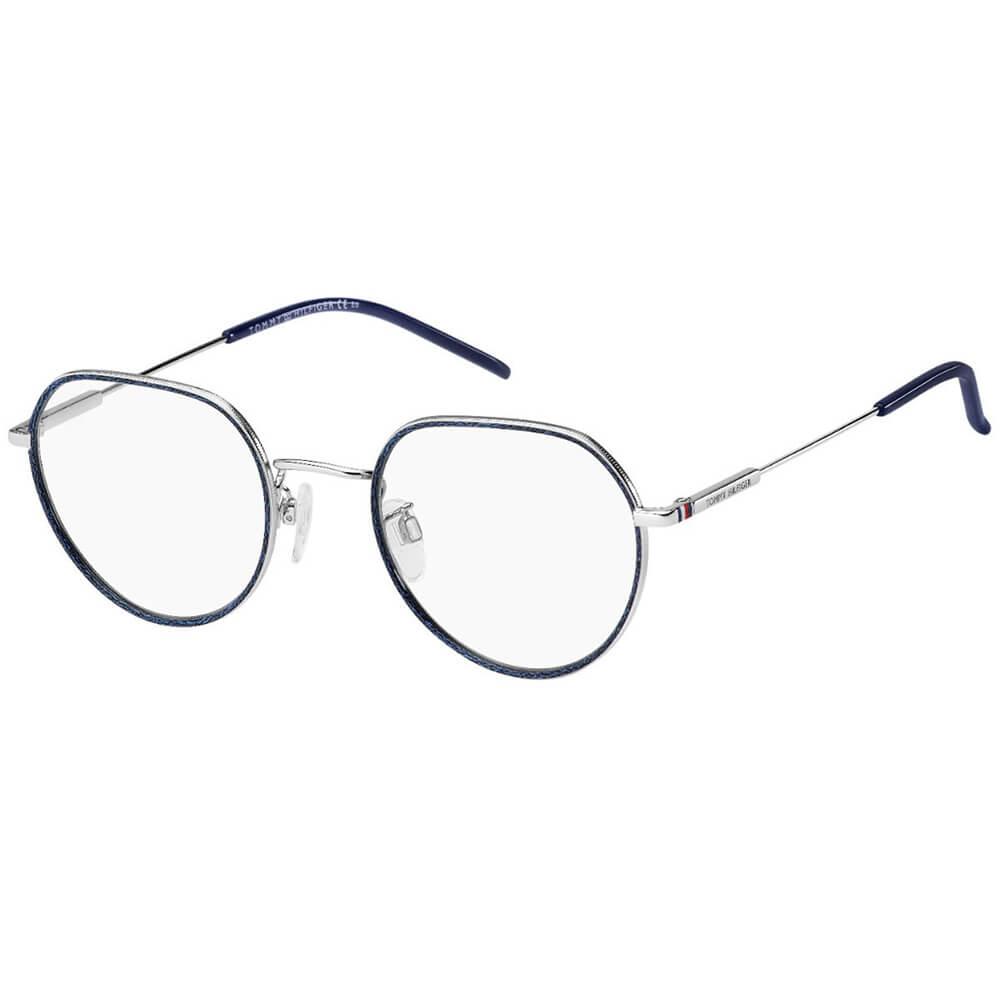 Tommy Hilfiger owalne okulary kolor granatowo-srebrny TH 1736/F 010