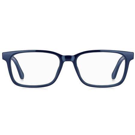 Tommy Hilfiger prostokątne granatowe okulary męskie TH 1487 PJP